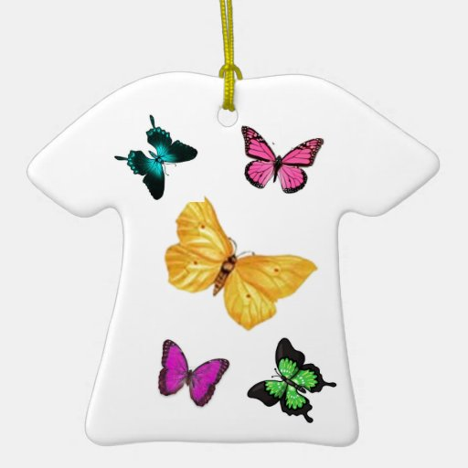 Butterfly Floral Christmas Ornament
