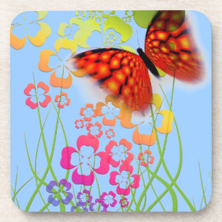 Butterfly Floral Drink Coasters