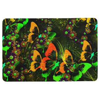 Butterfly Floral Floor Mat