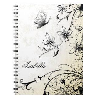 Butterfly Floral Garden Sketch Notebooks