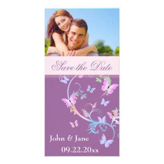 "Butterfly Flourish/photo  ""Save the Date"" Custom Photo Card"