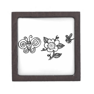 Butterfly Flower and a Bee Premium Jewelry Box