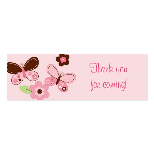 Butterfly Flower Baby Shower Favor Gift Tags Business Cards