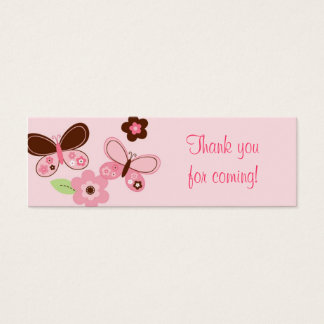 Butterfly Flower Baby Shower Favor Gift Tags Mini Business Card