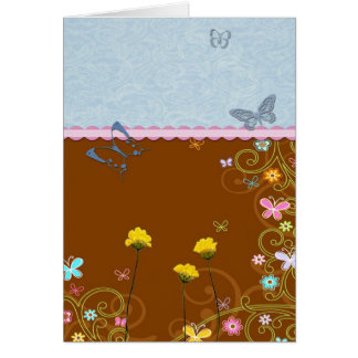 Butterfly Flower Card