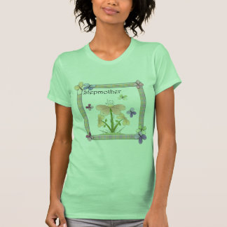 Butterfly Flower Stepmother Mothers Day Gifts Tshirt