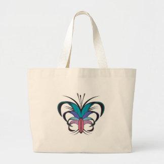 Butterfly Flower Tattoo Design Canvas Bag