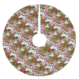 BUTTERFLY & FLOWERS AUSTRALIA BRUSHED POLYESTER TREE SKIRT