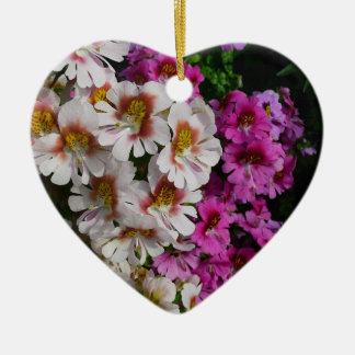 Butterfly Flowers Ceramic Heart Decoration