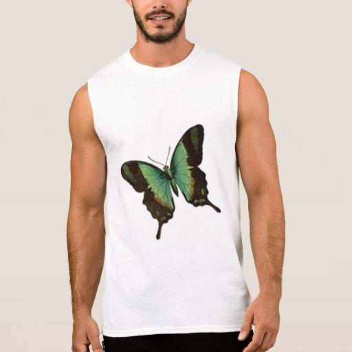 Butterfly Flowers Colorful Pattern Fun Art Sleeveless Shirts