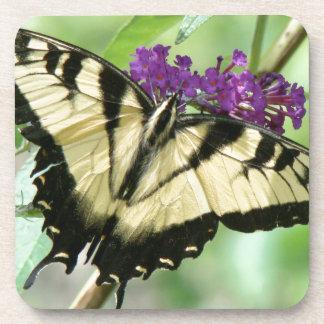 Butterfly Flowers Cork Coaster