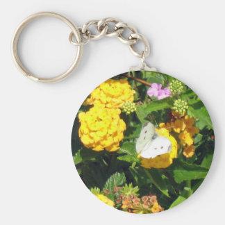 Butterfly & Flowers Key Chain