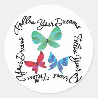 Butterfly - Follow Your Dreams Sticker