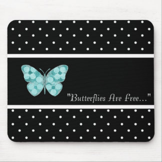 BUTTERFLY-FREE-TEMPLATE-VINTAGE-STYLISH MOUSE PAD