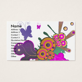 butterfly frenzy vector abstract business card