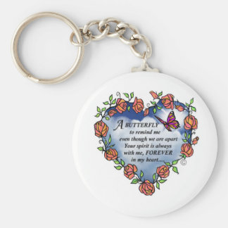 Butterfly from Heaven Basic Round Button Key Ring