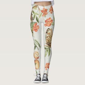 Butterfly Fruit & Flowers All Over Print Leggings