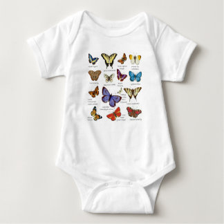 Butterfly Full Color Illustrations popular types Baby Bodysuit
