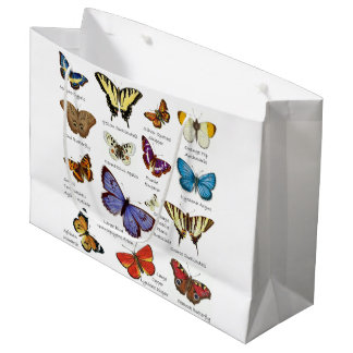 Butterfly Full Color Illustrations popular types Large Gift Bag