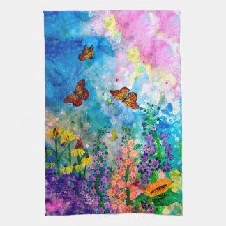 """Butterfly Garden 16"""" x 24"""" Hand Towel"""