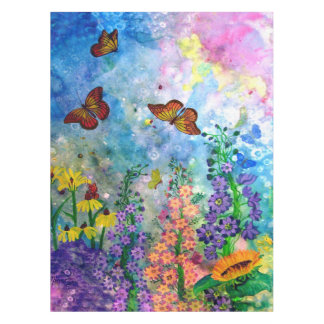 "Butterfly Garden 52"" x 70"" Table Cloth"