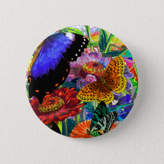 Butterfly Garden 6 Cm Round Badge
