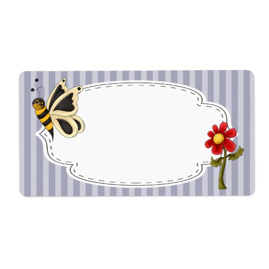 Butterfly Garden Label Shipping Label