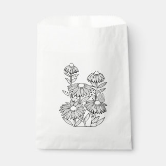 Butterfly Garden Line Art Design Favour Bag