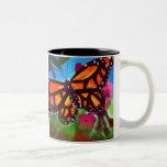 Butterfly Garden Mug 11oz (White/Black)
