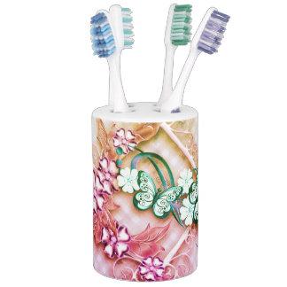 Butterfly Garden Soap Dispenser And Toothbrush Holder