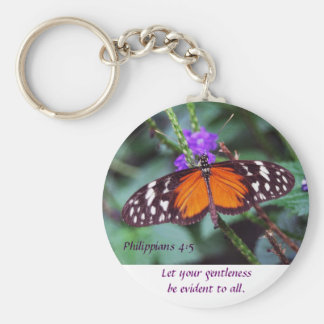 Butterfly - Gentleness Basic Round Button Key Ring