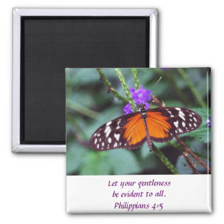Butterfly - Gentleness Square Magnet