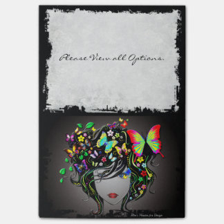 Butterfly Girl 1-1A Image Options Post-it Notes
