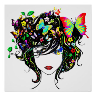 Butterfly Girl 1A Poster