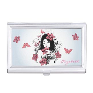 Butterfly Girl 3 Business Card Holder