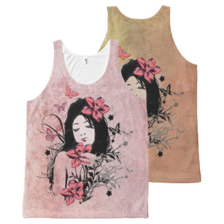 Butterfly Girl 3A Options All-Over Print Tank Top