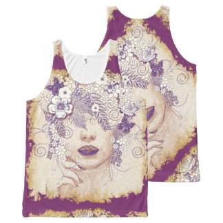 Butterfly Girl 7 All-Over Print Tank Top