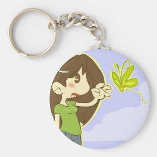 Butterfly Girl Key Ring
