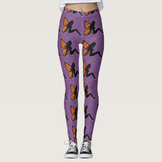 Butterfly Girl Silhouette Leggings