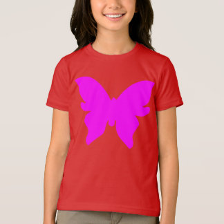 Butterfly Girl's Kid Design T-Shirt