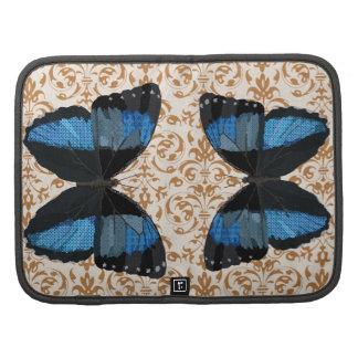 Butterfly Golden Damask Rickshaw Folio Planners