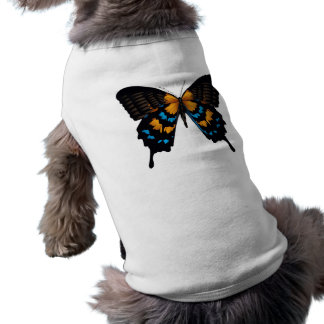 BUTTERFLY GRAPHIC PRINT DOG TEE SHIRT
