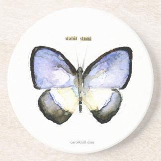 Butterfly: Green-Banded Blue Drink Coasters