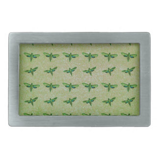 Butterfly green+blue rectangular belt buckles