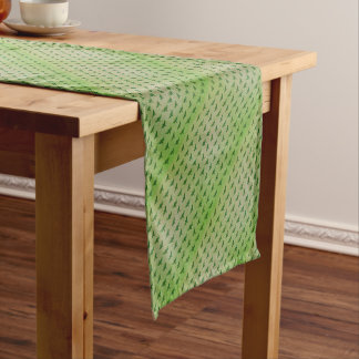 Butterfly green+blue short table runner