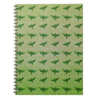 Butterfly green+blue spiral notebook