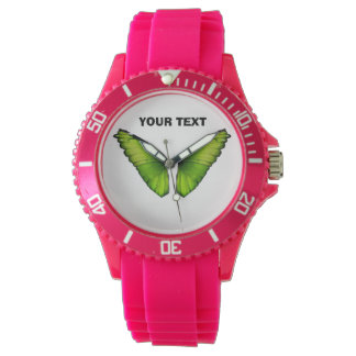 Butterfly green monarch watch