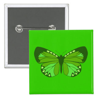 Butterfly Greens 15 Cm Square Badge