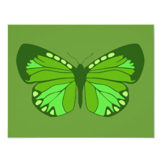 """Butterfly Greens 4.25"""" X 5.5"""" Invitation Card"""