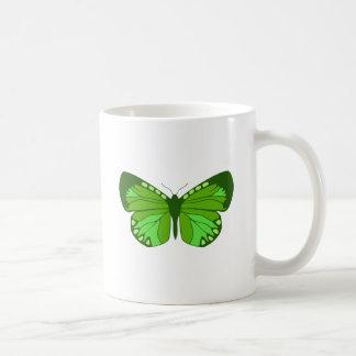 Butterfly Greens Basic White Mug